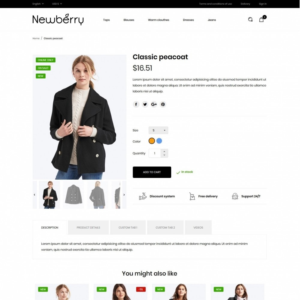 theme - Mode & Chaussures - Newberry Fashion Store - 6