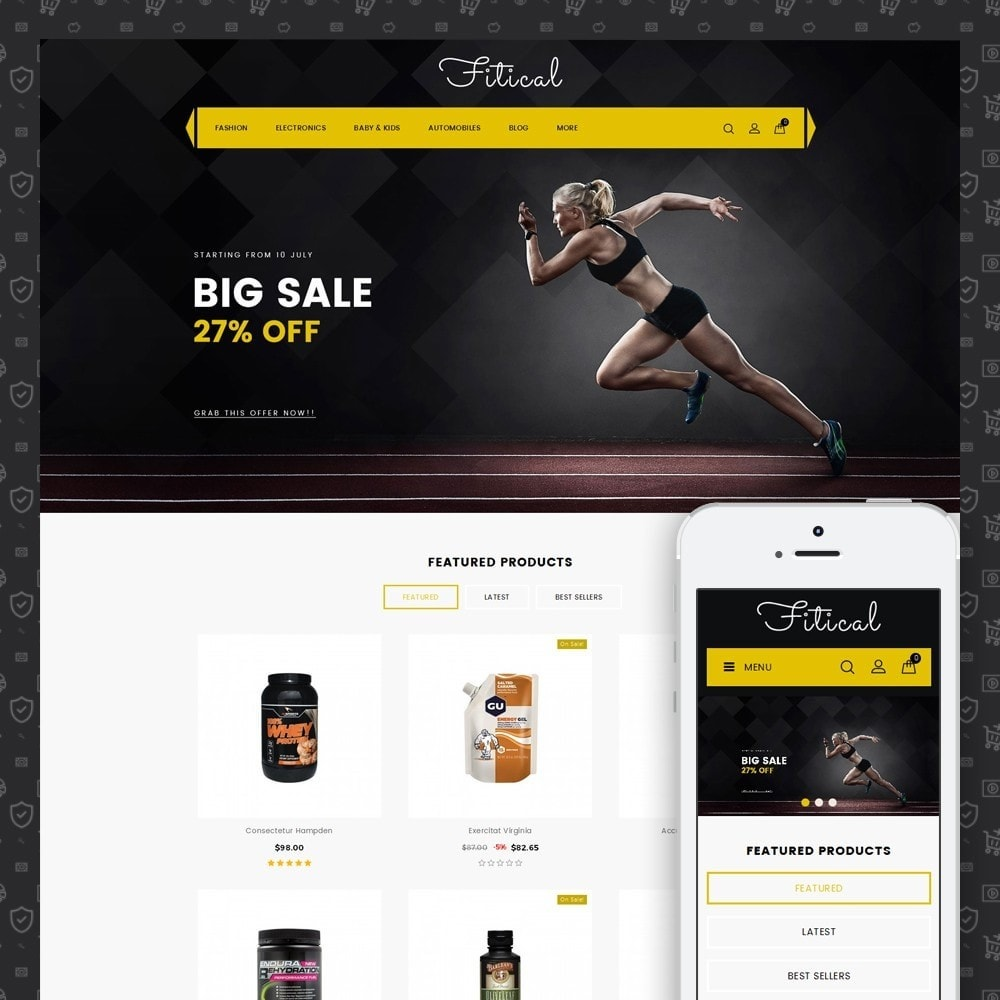 theme - Saúde & Beleza - Fitical - Fitness Store - 1