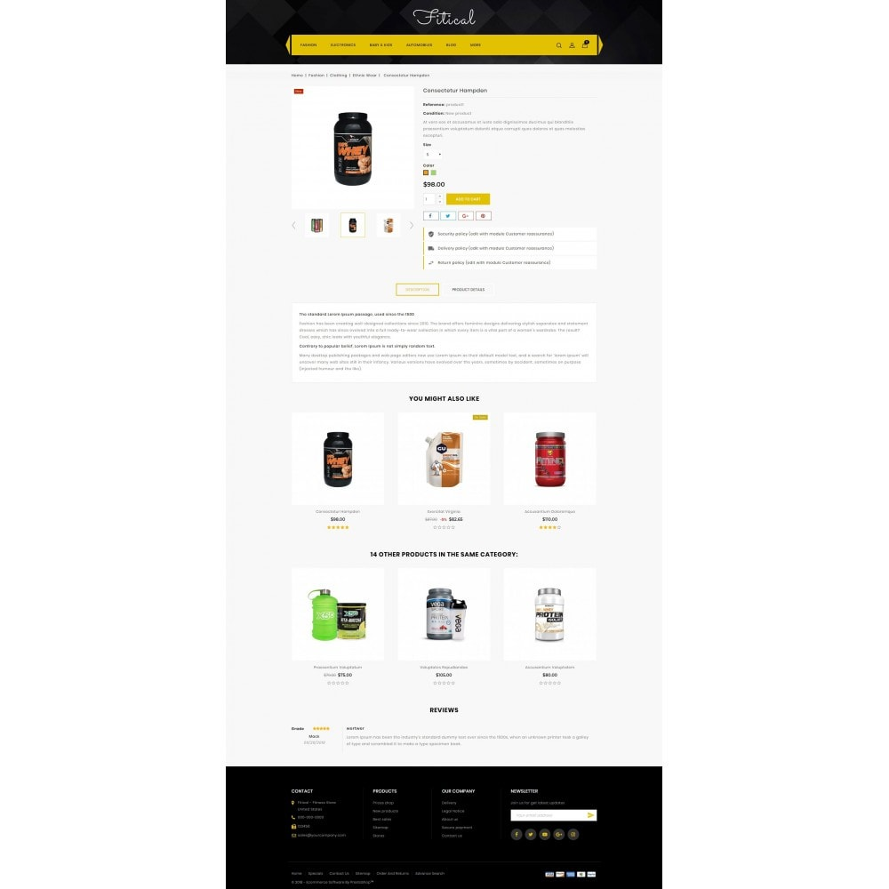 theme - Saúde & Beleza - Fitical - Fitness Store - 5