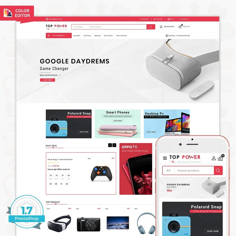 theme - Electronique & High Tech - Top Tower - The Mega Ecommerce Store - 1