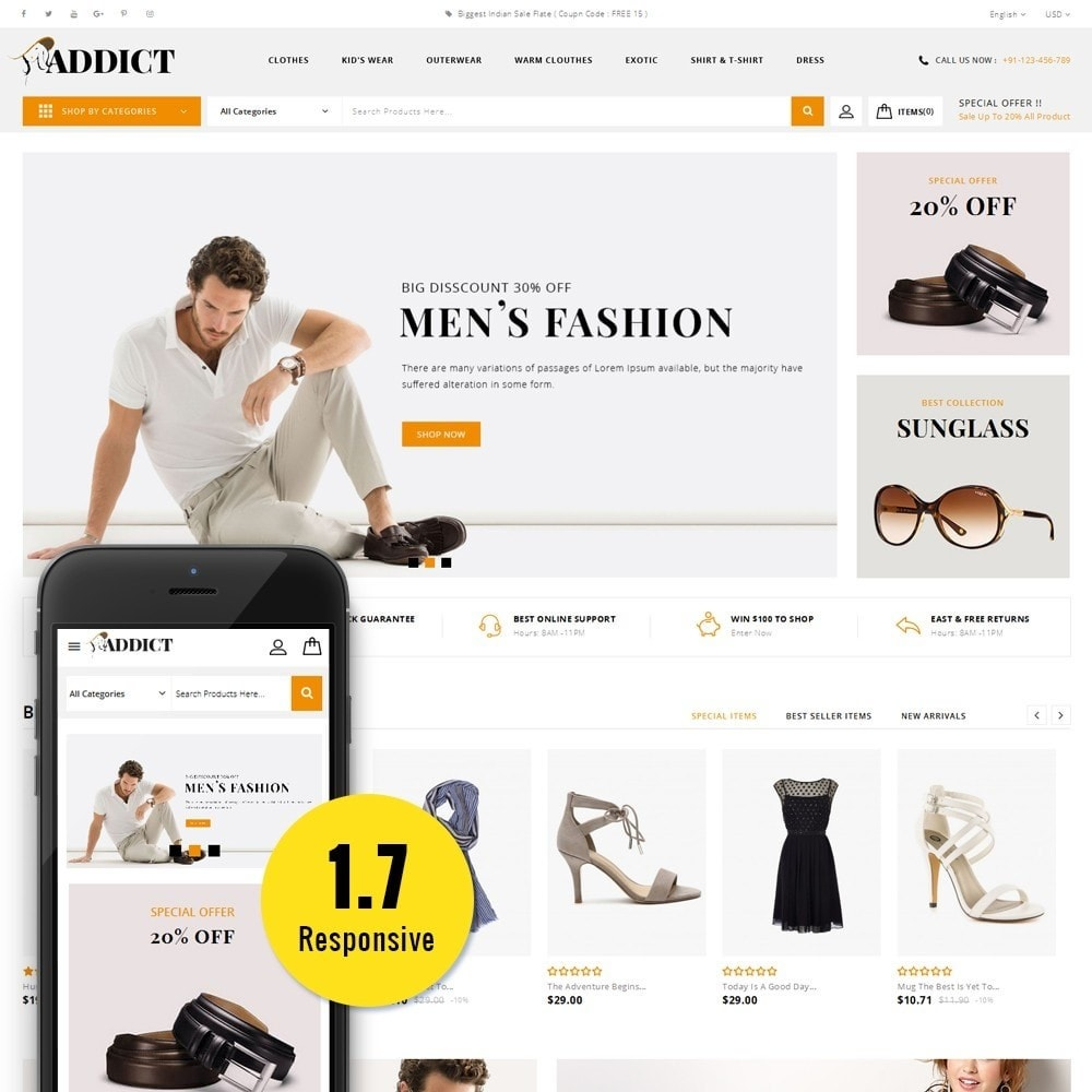 theme - Mode & Chaussures - Addict Fashion Store - 1