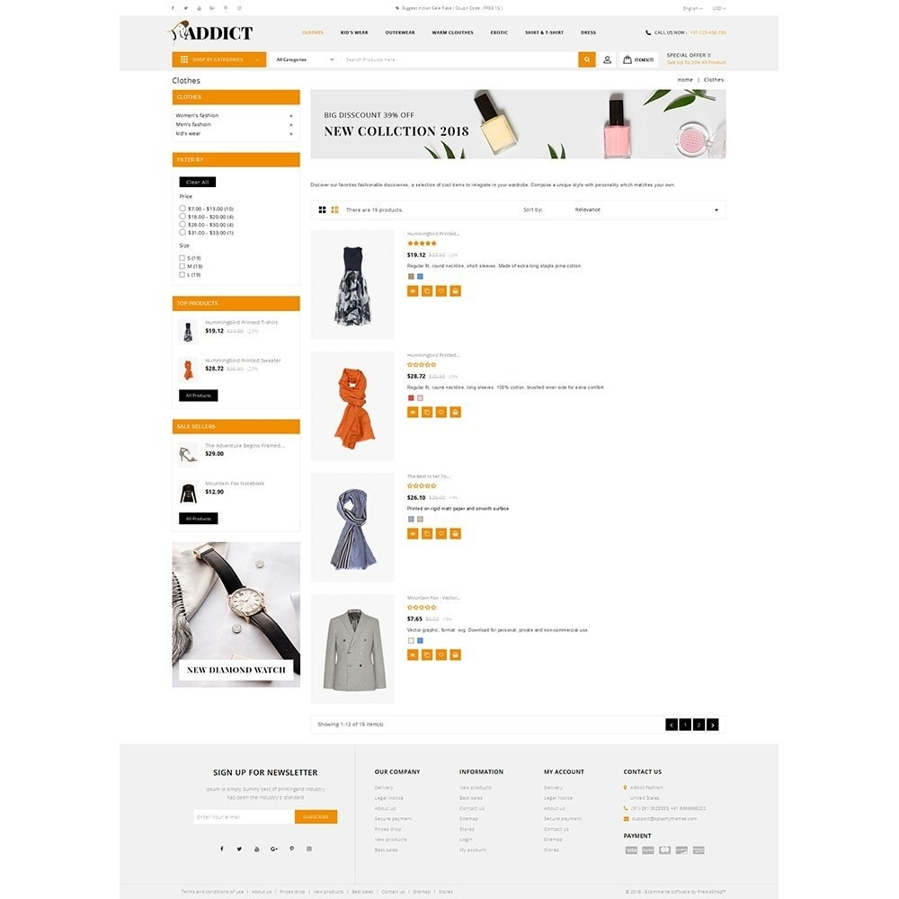 theme - Mode & Chaussures - Addict Fashion Store - 4