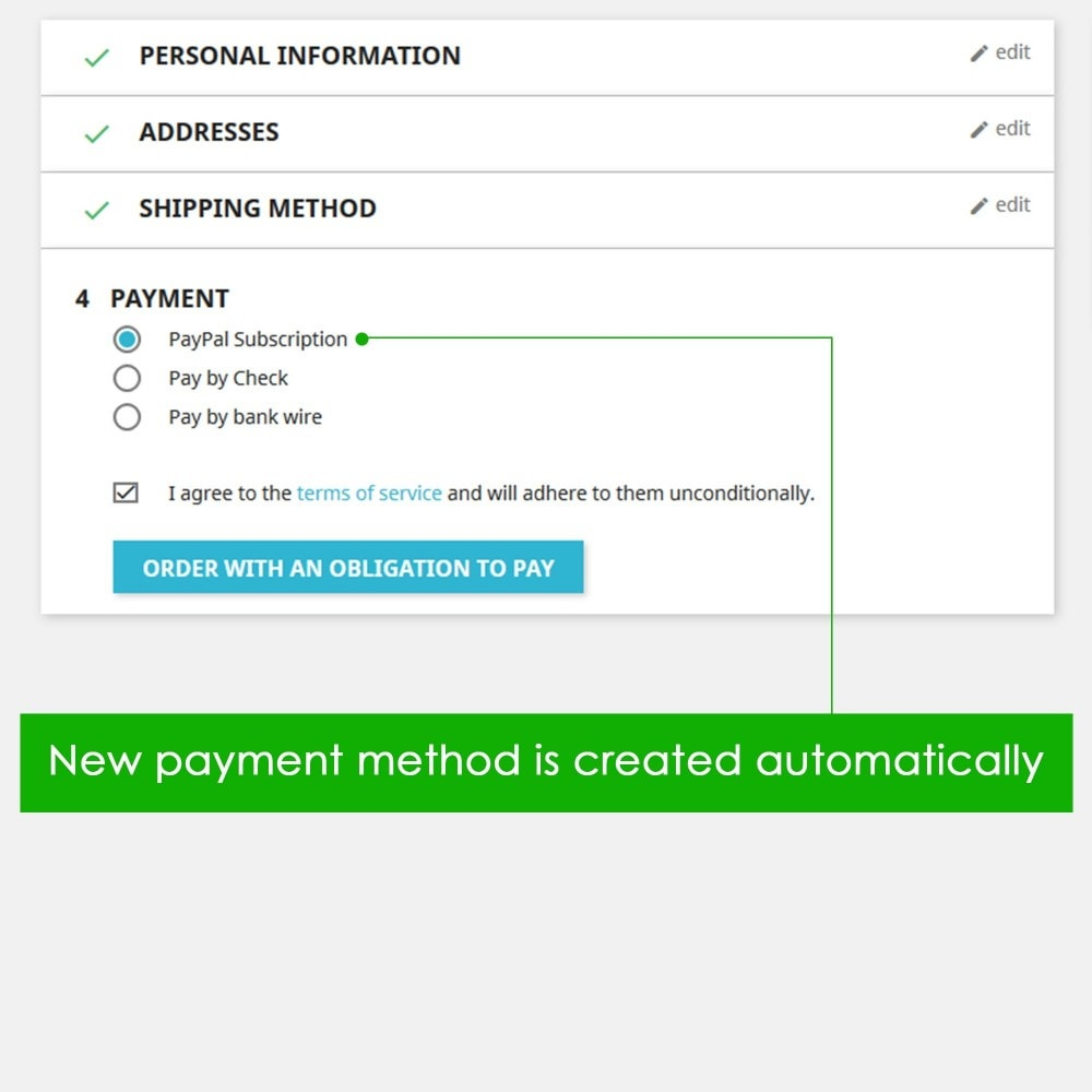 module - Recurring payment (subscription) - PayPal Recurring Payments / Subscription - 3