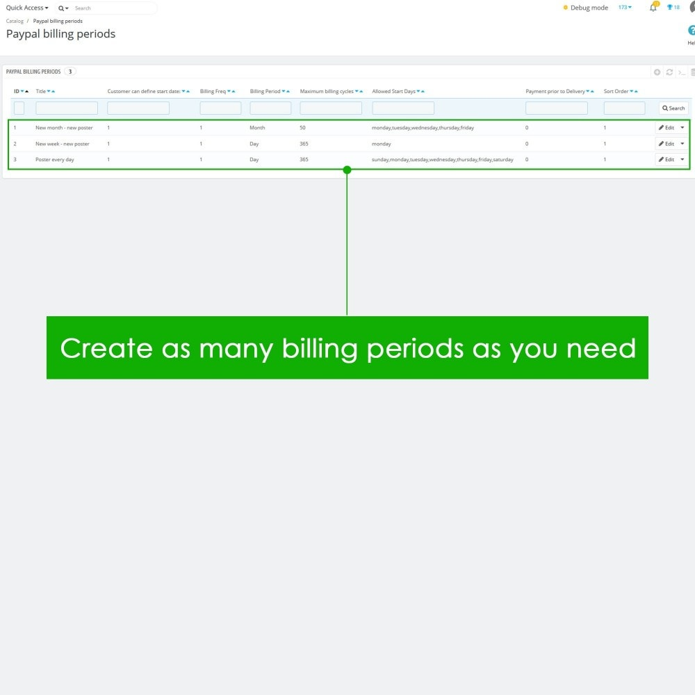 module - Recurring payment (subscription) - PayPal Recurring Payments / Subscription - 6