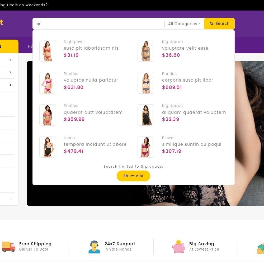 theme - Lingerie & Adulte - Digital Mart Lingerie Shop - 12