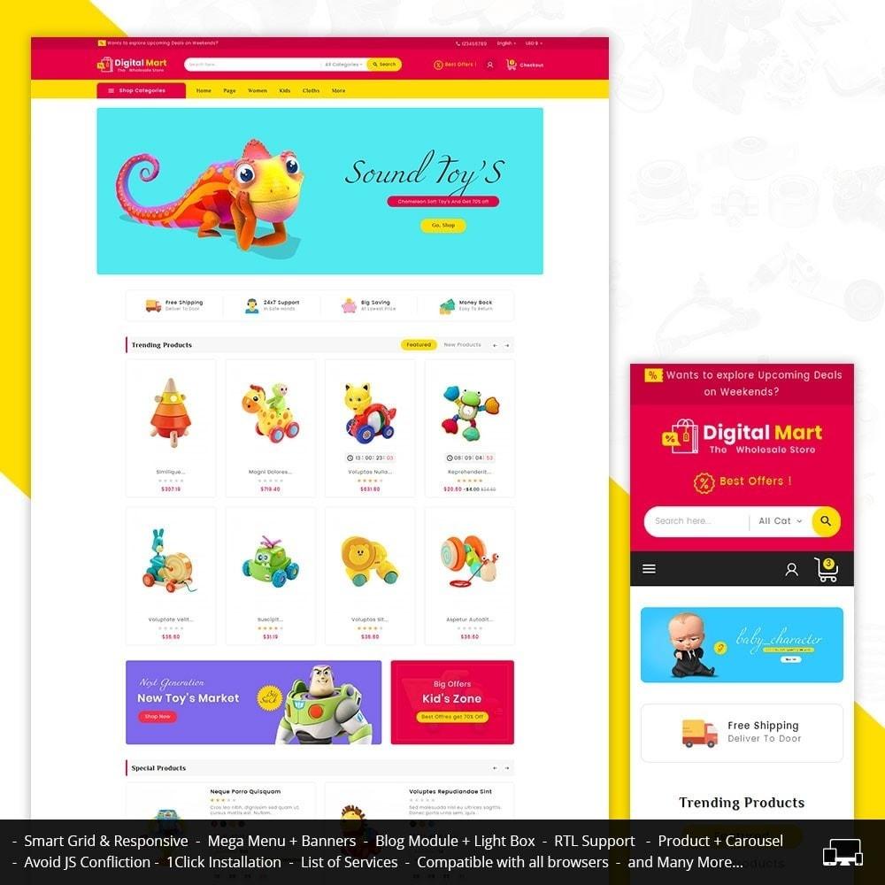 theme - Crianças & Brinquedos - Digital Mart Kids Toys - 1