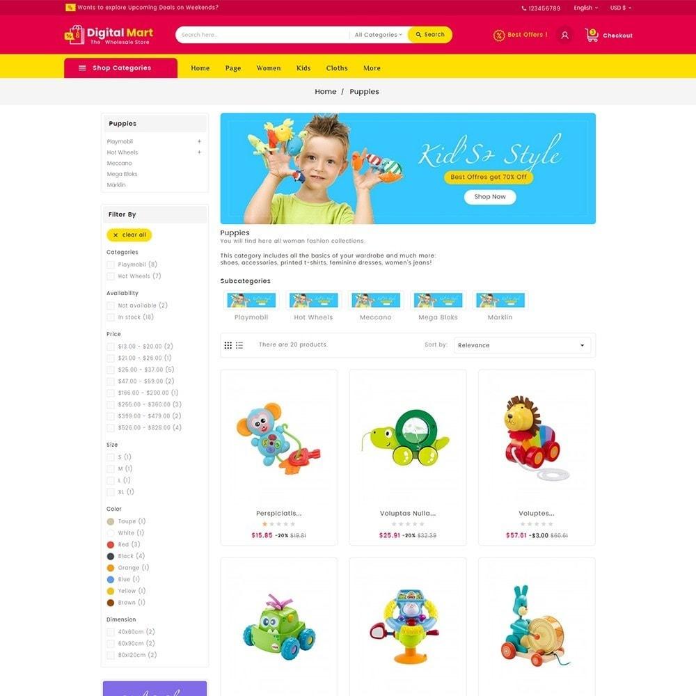 theme - Crianças & Brinquedos - Digital Mart Kids Toys - 5