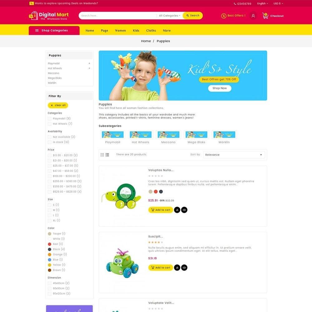 theme - Crianças & Brinquedos - Digital Mart Kids Toys - 6