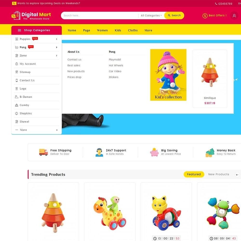 theme - Crianças & Brinquedos - Digital Mart Kids Toys - 11