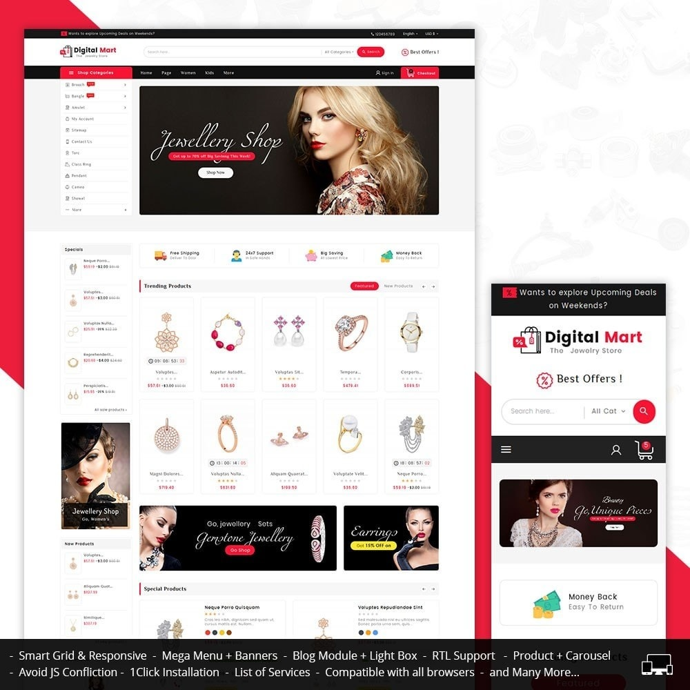 theme - Joalheria & Acessórios - Digital Mart Jewelry Imitation - 1