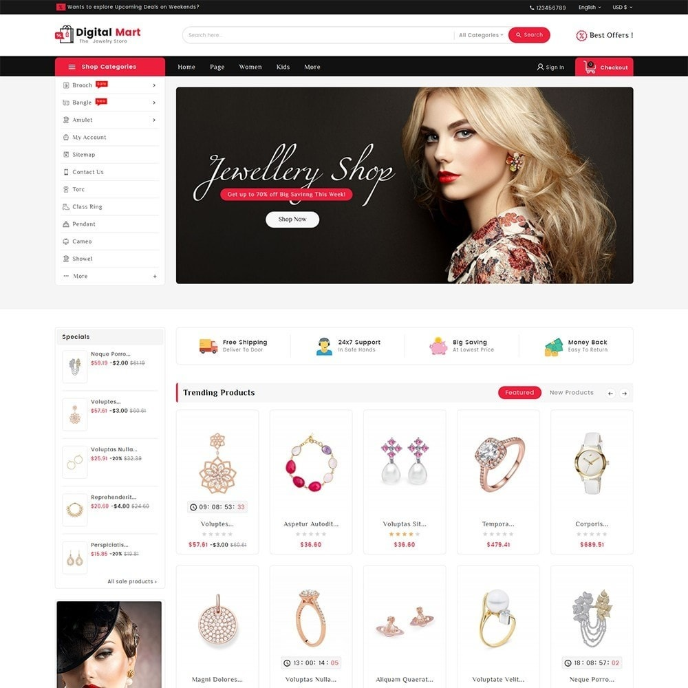 theme - Joalheria & Acessórios - Digital Mart Jewelry Imitation - 2