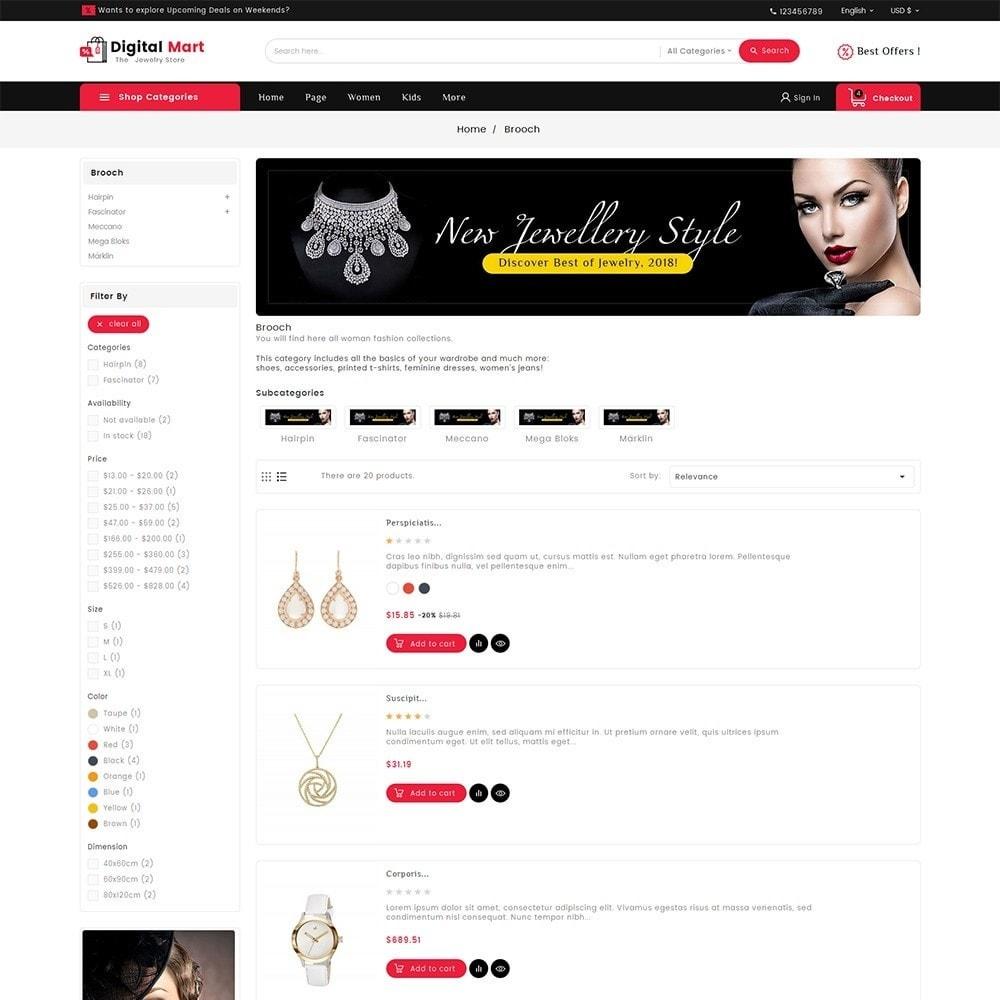 theme - Joalheria & Acessórios - Digital Mart Jewelry Imitation - 4