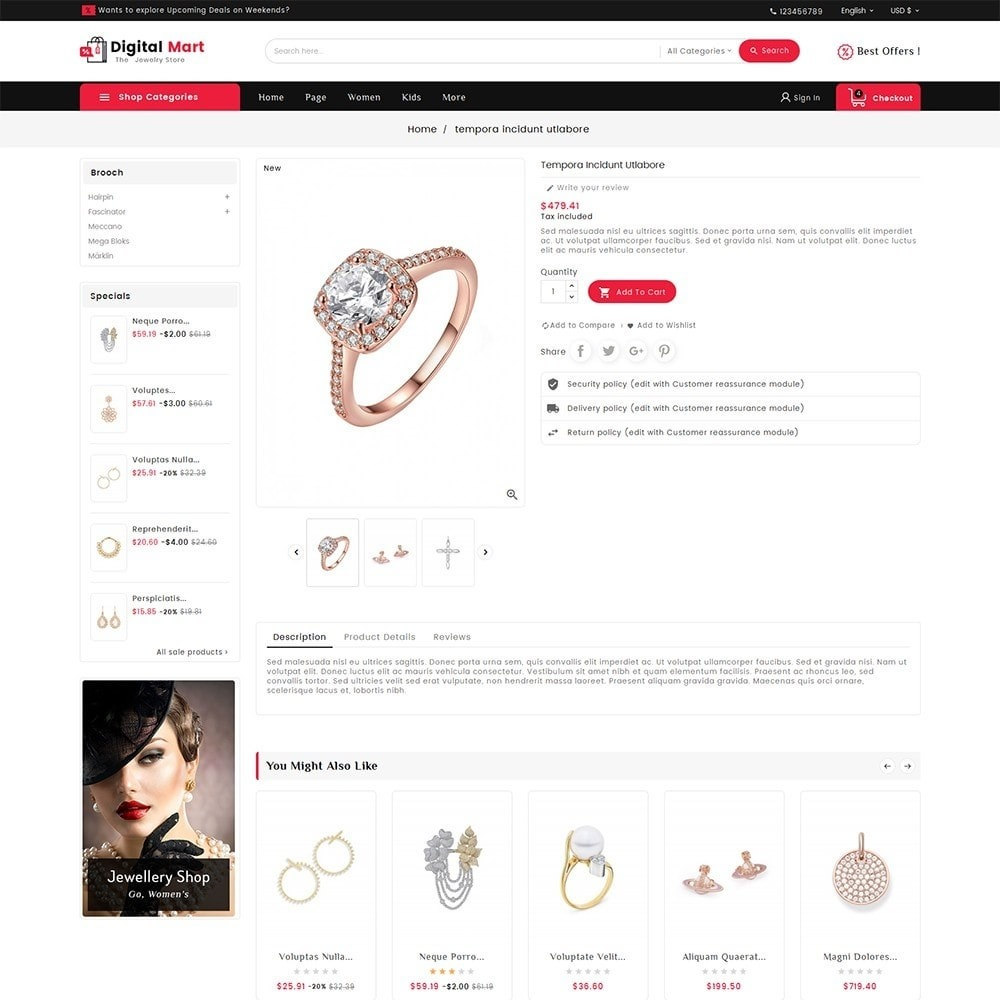 theme - Joalheria & Acessórios - Digital Mart Jewelry Imitation - 5