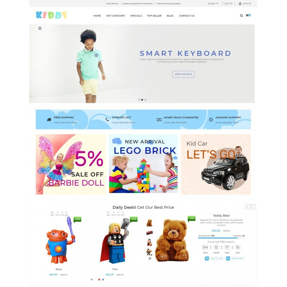 theme - Crianças & Brinquedos - Kiddy & Children Store - 2
