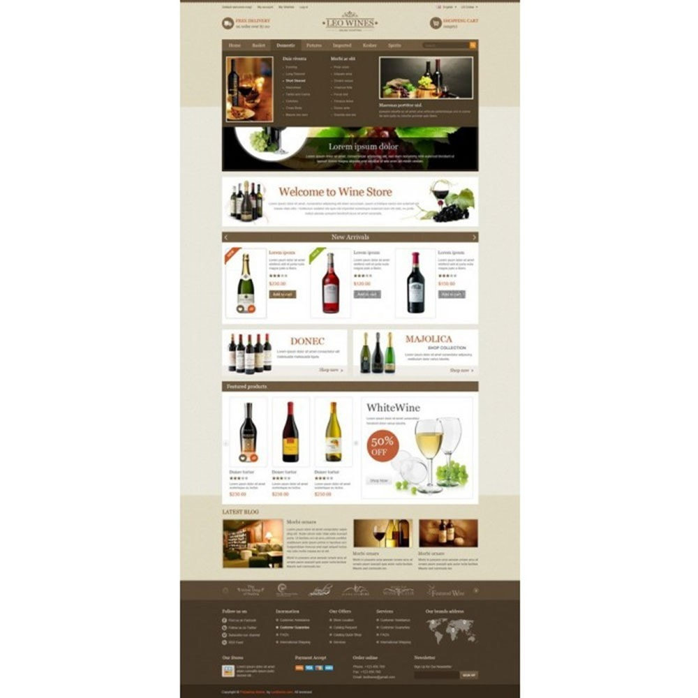 theme - Boissons & Tabac - Leo Wines - Alcool, Restaurant & Magasin d'alcool - 2