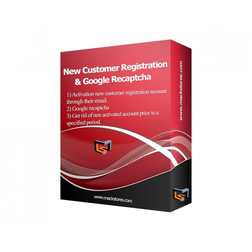 module - Inscription & Processus de commande - Customer Email Verification & Google Recaptcha AntiSpam - 1