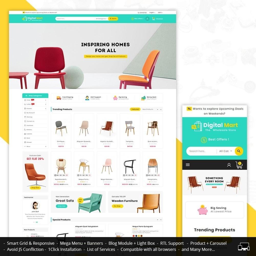theme - Home & Garden - Digital Mart Home Decor Furniture - 1