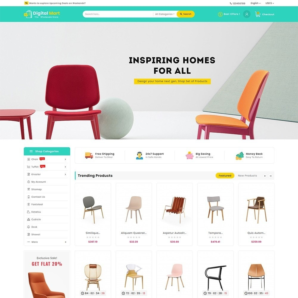 theme - Casa & Jardins - Digital Mart Home Decor Furniture - 2
