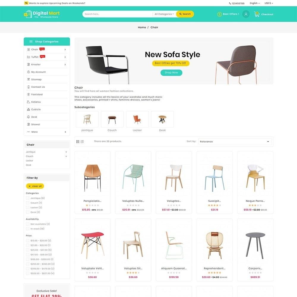 theme - Casa & Jardins - Digital Mart Home Decor Furniture - 4