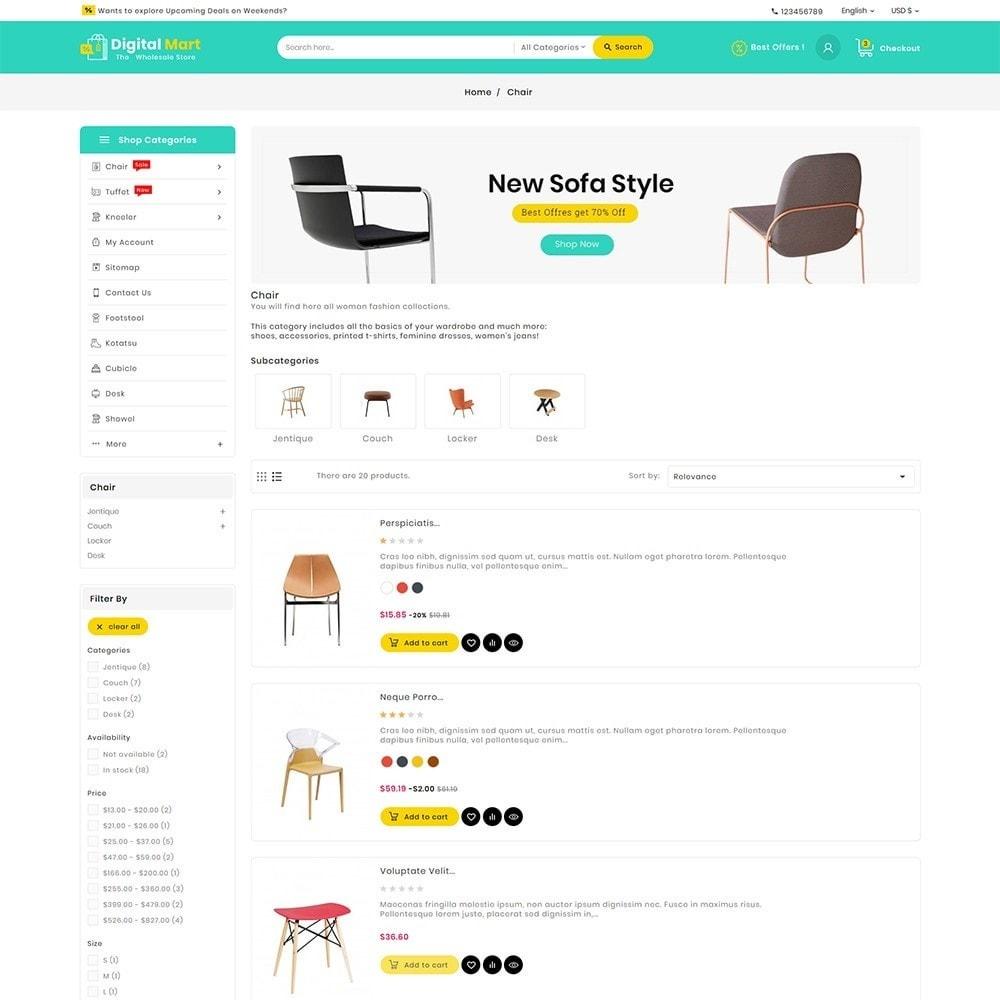 theme - Home & Garden - Digital Mart Home Decor Furniture - 5