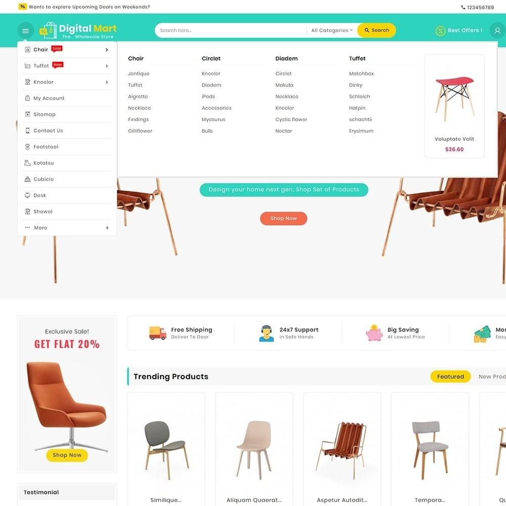 theme - Casa & Jardins - Digital Mart Home Decor Furniture - 10