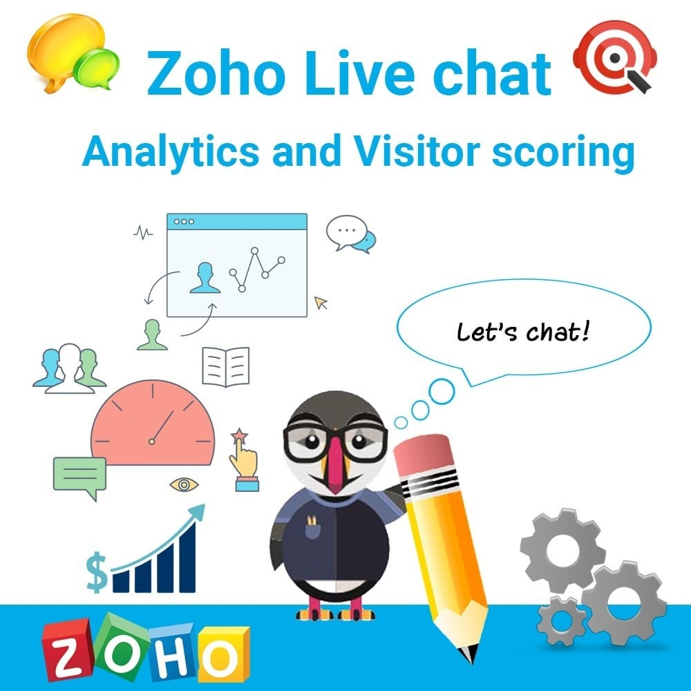 module - Support & Chat Online - Zoho Live chat. Support. Analytics and Visitor scoring. - 1
