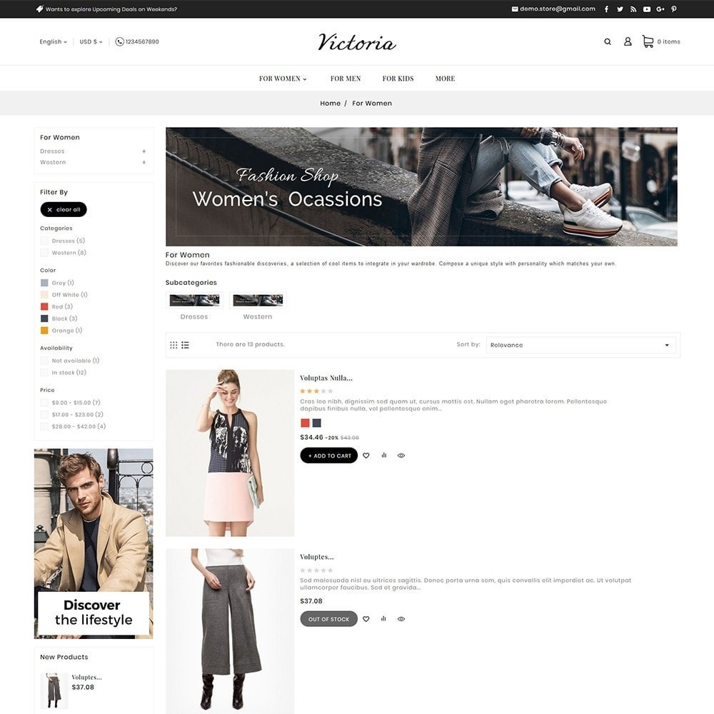 theme - Mode & Chaussures - Victoria Fashion Apparels - 6