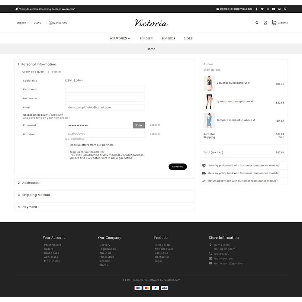 theme - Mode & Chaussures - Victoria Fashion Apparels - 9