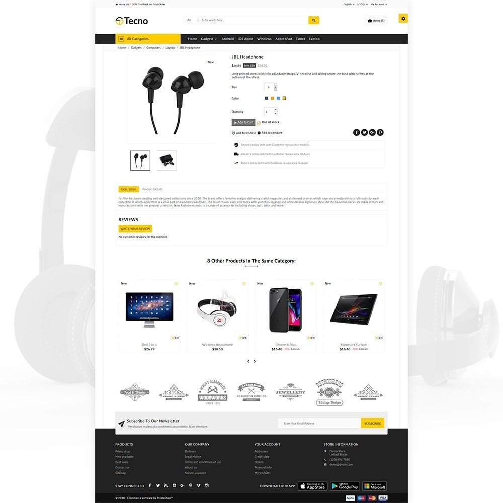 theme - Electronique & High Tech - Tecno – The Electronic Multi Purpose Store - 4