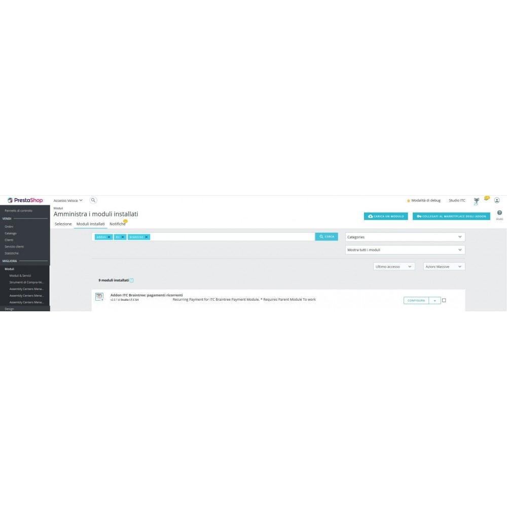 module - Altri Metodi di Pagamento - ITC Braintree : Pagamenti ricorrenti - 1