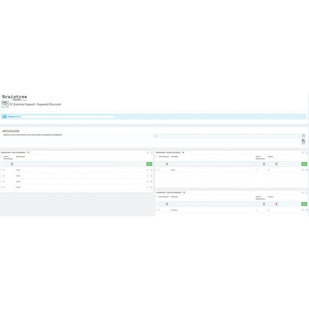 module - Altri Metodi di Pagamento - ITC Braintree : Pagamenti ricorrenti - 3