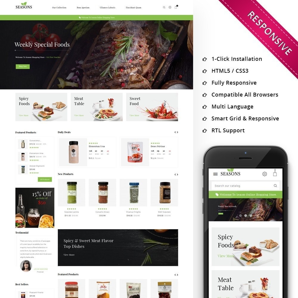theme - Alimentos & Restaurantes - Seasons -The Food Store - 1