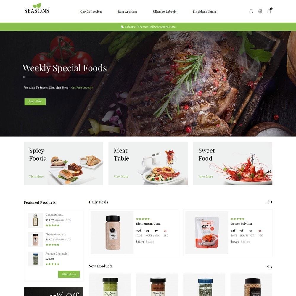 theme - Alimentos & Restaurantes - Seasons -The Food Store - 2