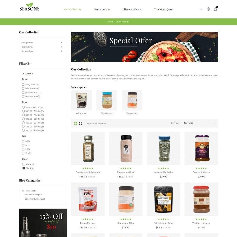 theme - Alimentos & Restaurantes - Seasons -The Food Store - 4