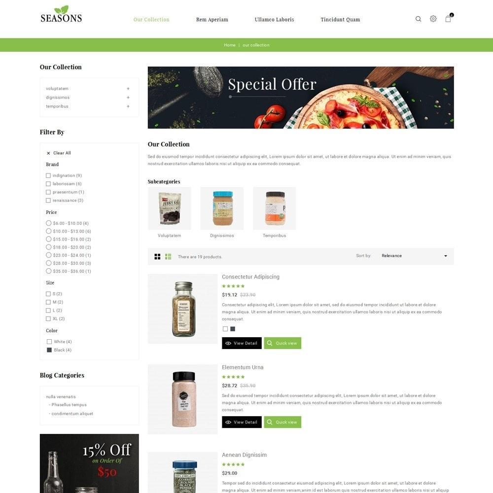 theme - Alimentos & Restaurantes - Seasons -The Food Store - 5