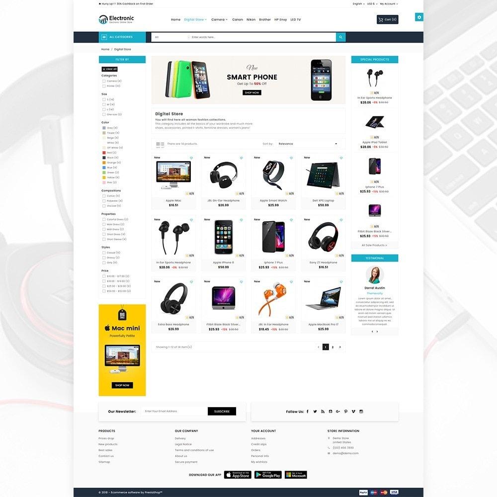 theme - Электроника и компьютеры - Electronic – The Electronic Mega Shop - 4