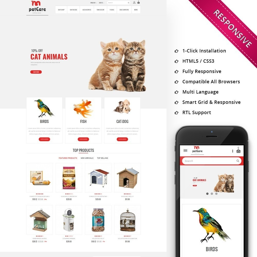 theme - Animaux - Patcare - The Animal Store - 1