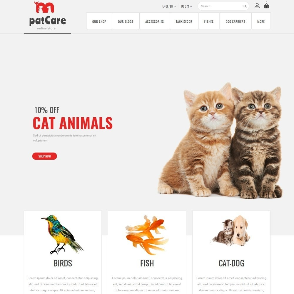 theme - Animals & Pets - Patcare - The Animal Store - 2