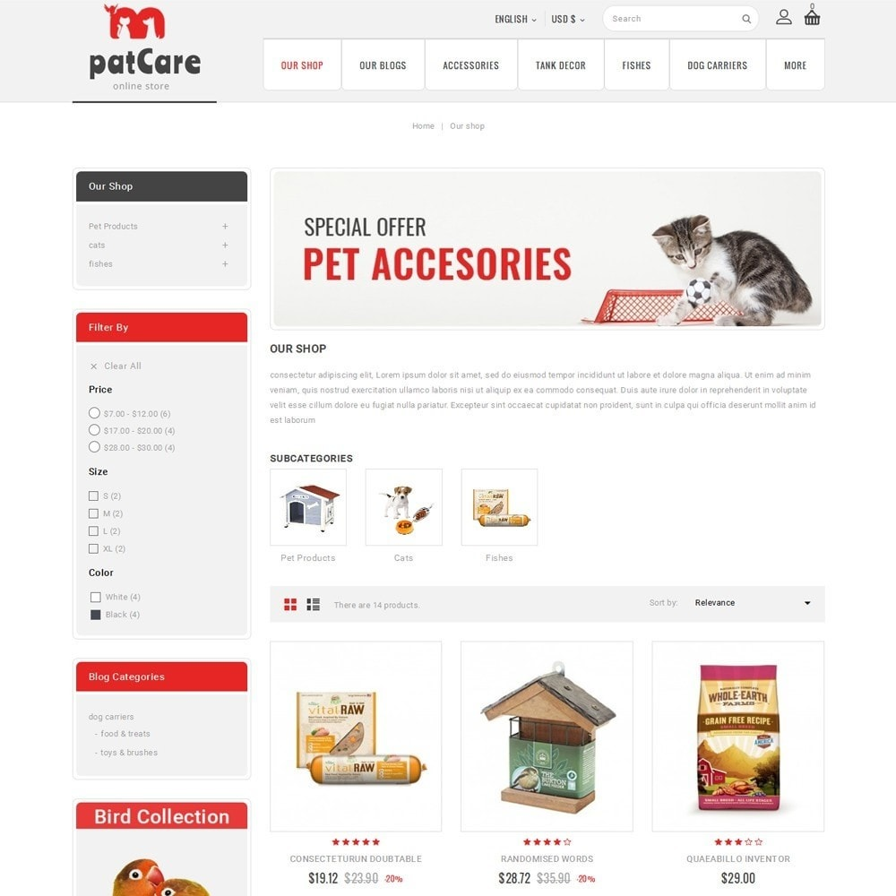 theme - Animals & Pets - Patcare - The Animal Store - 4