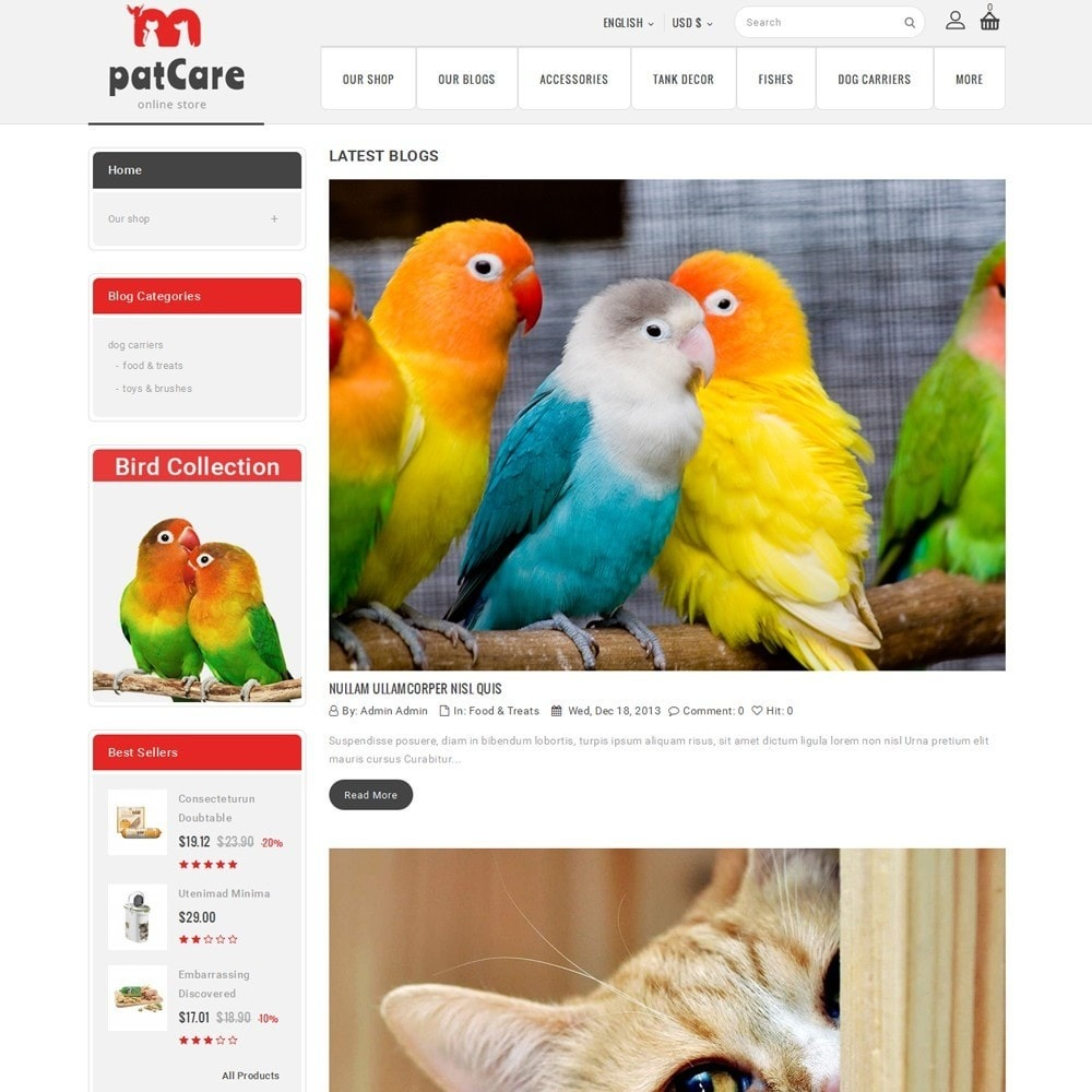 theme - Animals & Pets - Patcare - The Animal Store - 7