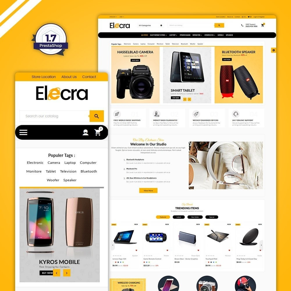 theme - Eletrônicos & High Tech - Elecra–Electronics Mega Shop - 1