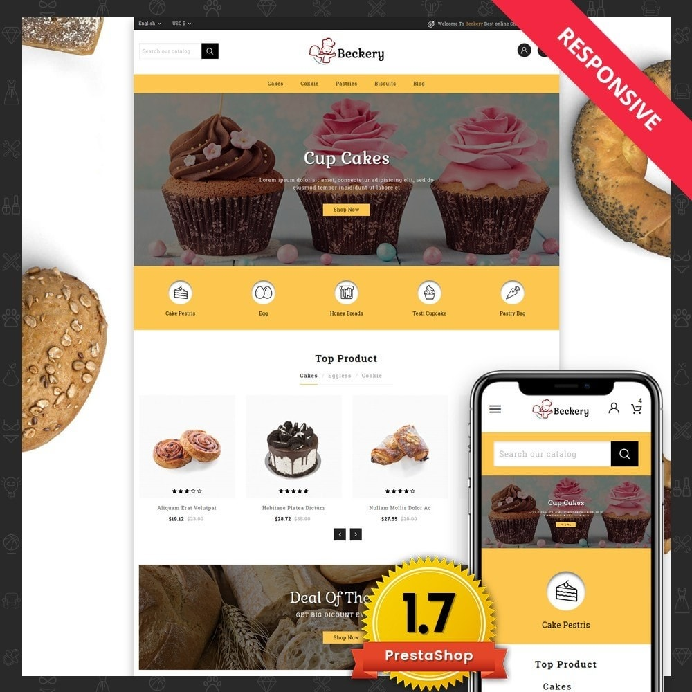 theme - Food & Restaurant - Bakery Store - 1