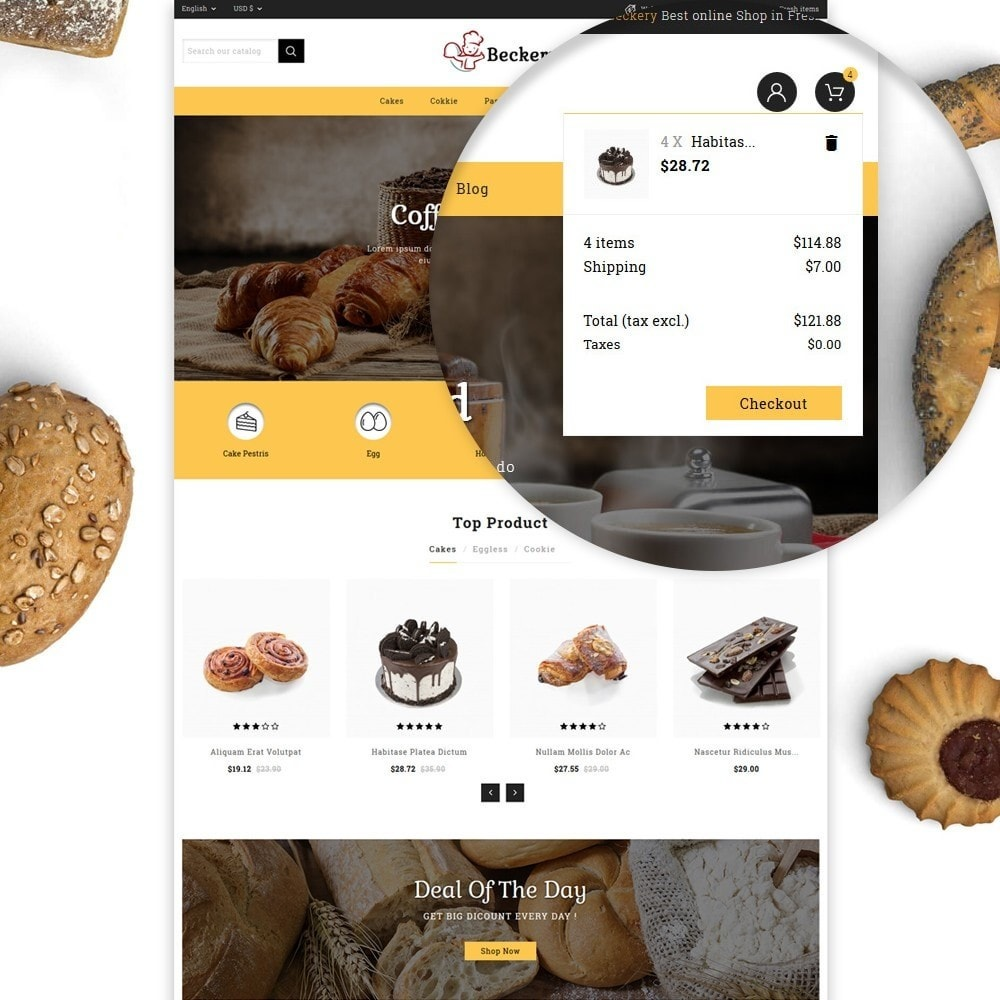 theme - Food & Restaurant - Bakery Store - 7