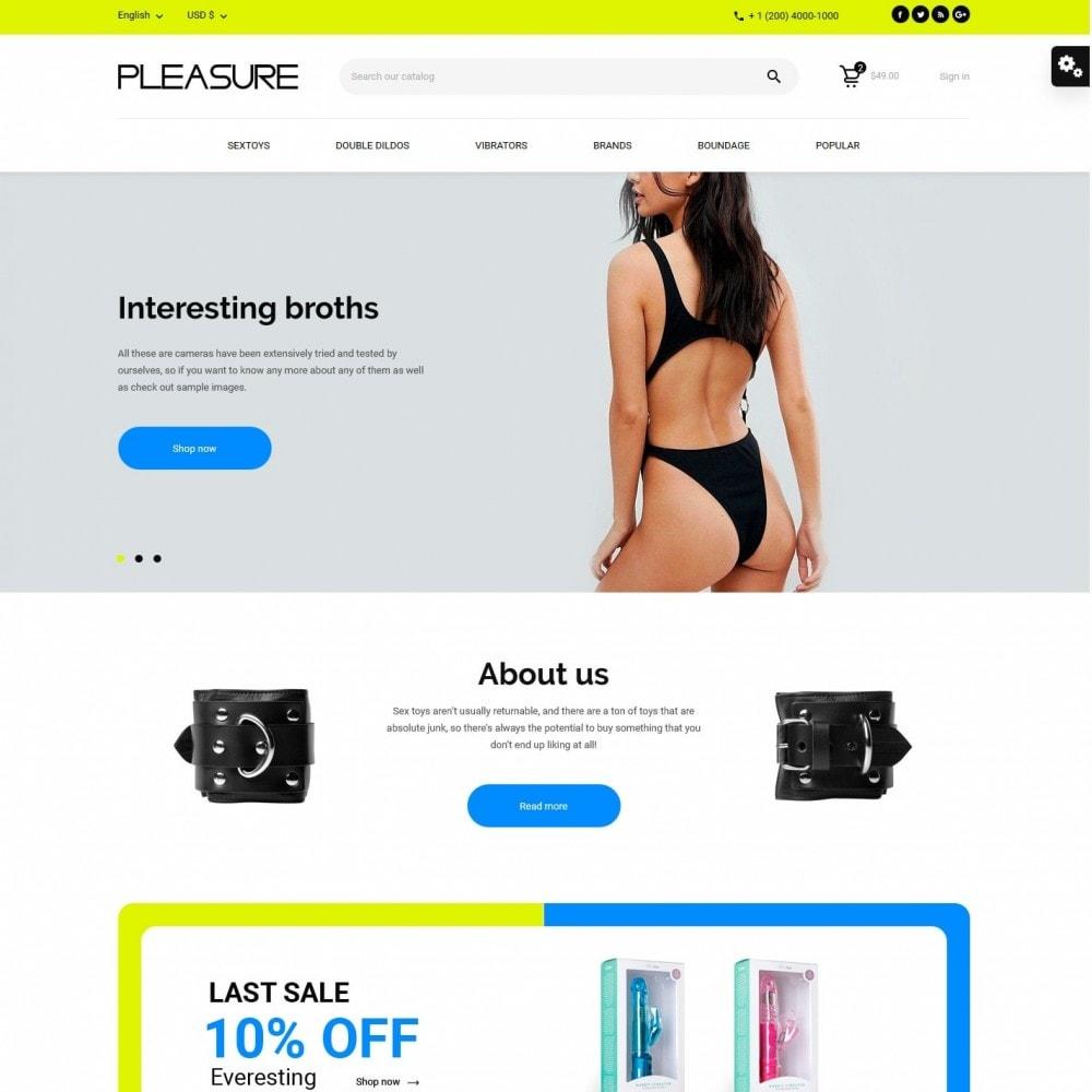 theme - Lingerie & Adultos - Pleasure - Sex Shop - 2
