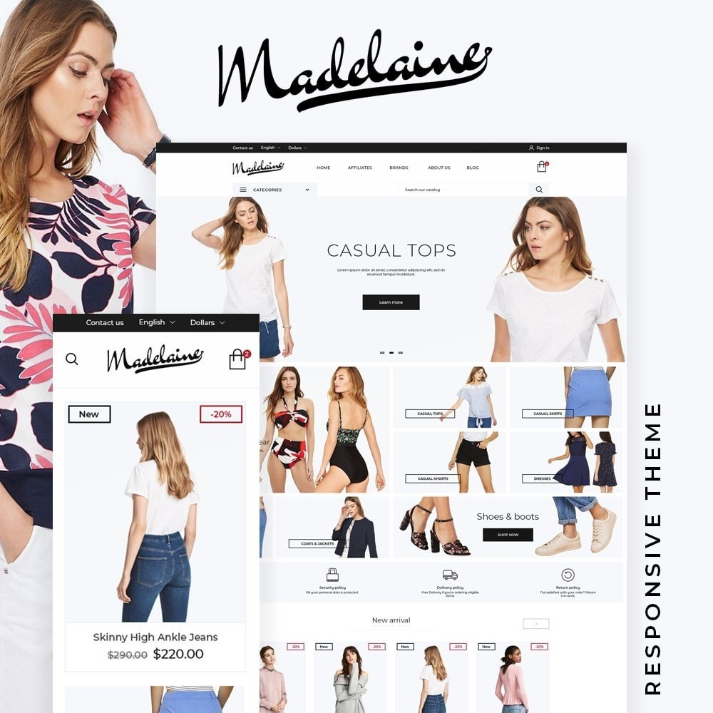 theme - Fashion & Shoes - Madelaine Fashion Store - 1