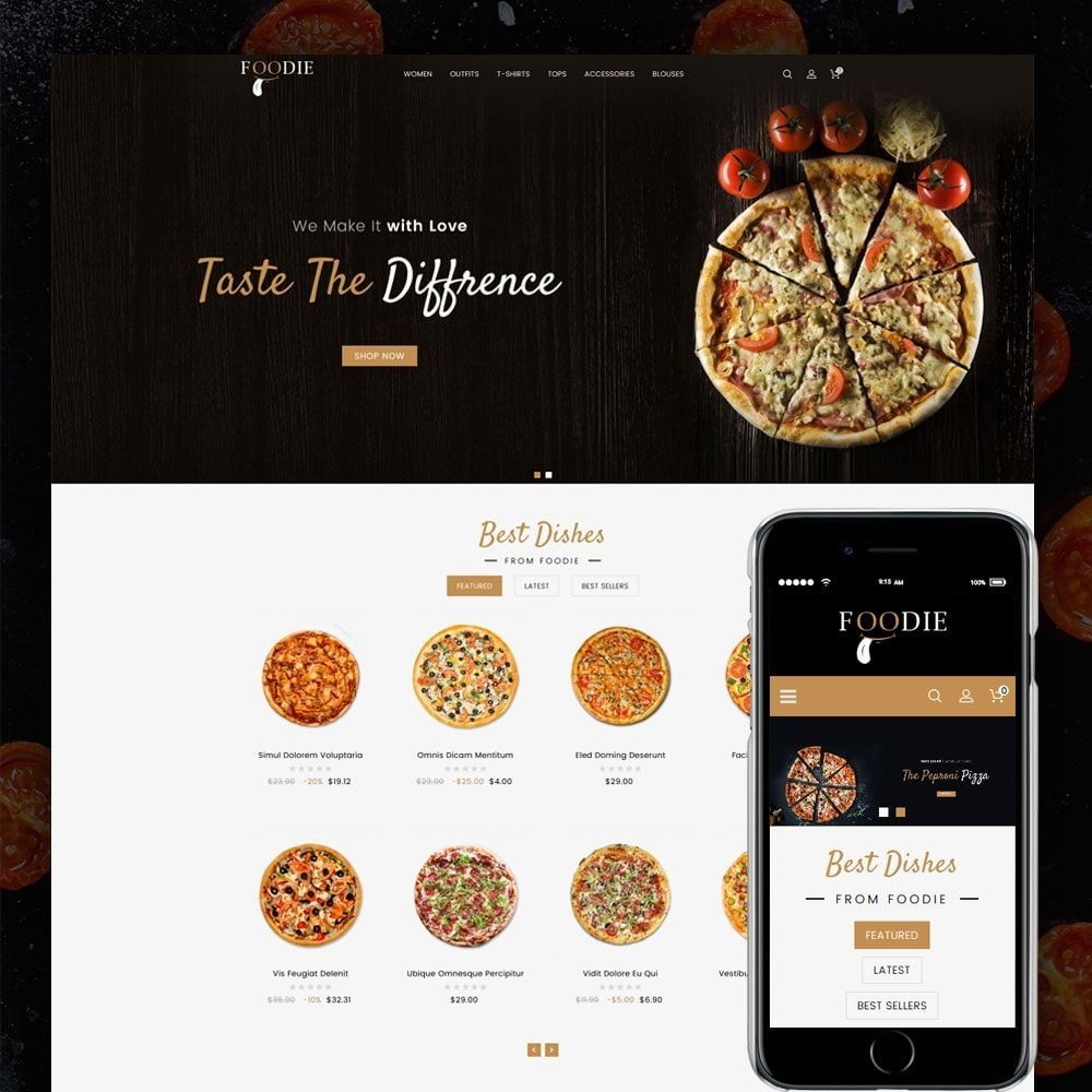 theme - Alimentation & Restauration - Foodie Food Store - 1