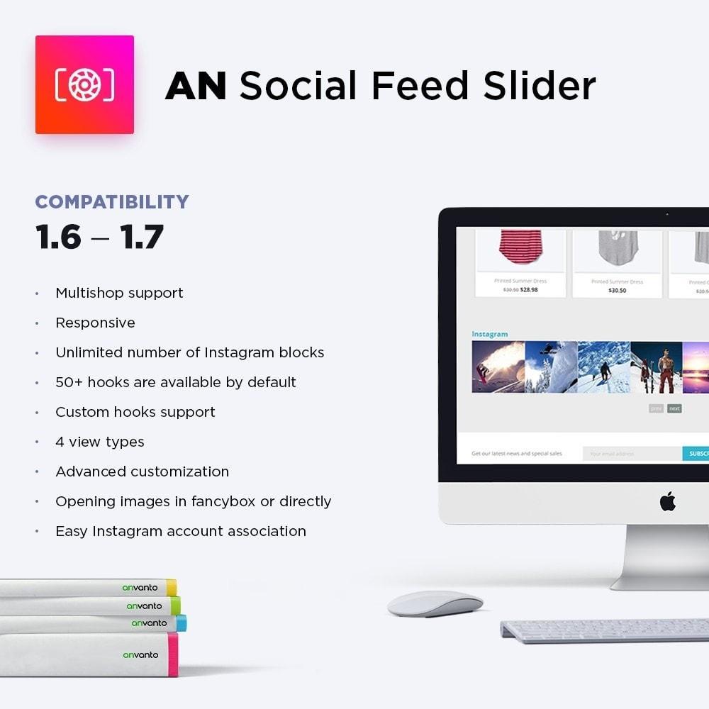 module - Sliders & Galeries - Social Feed Slider - Instagram Widget - 1