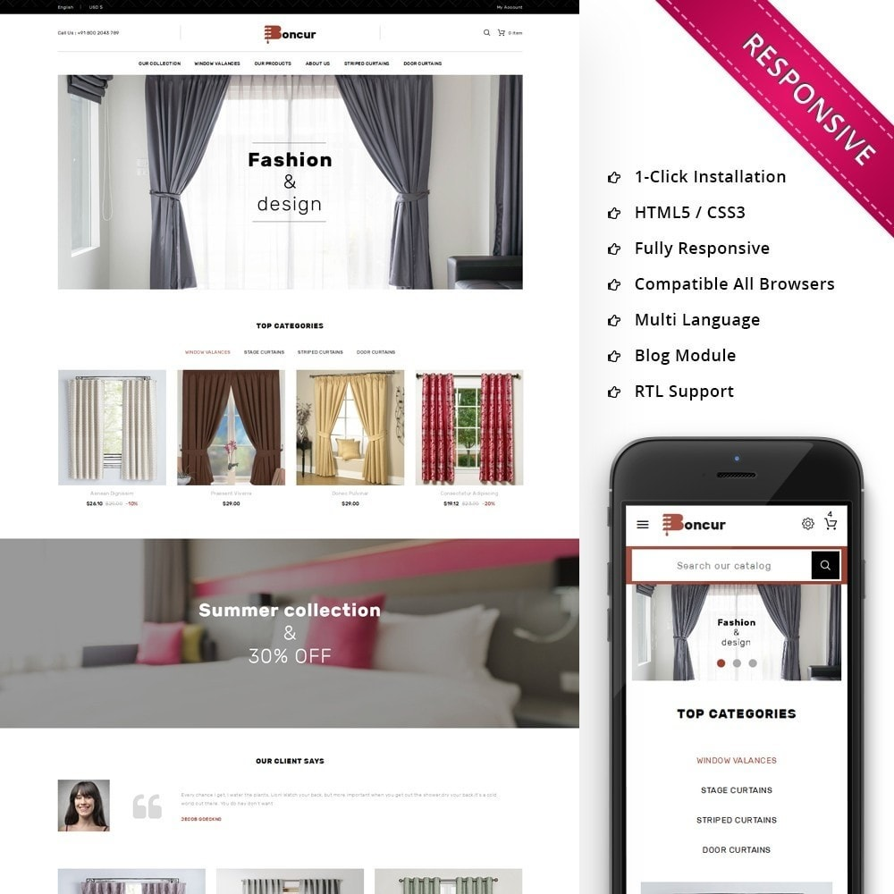 theme - Casa & Jardins - Boncur - The Curtain Shop - 1