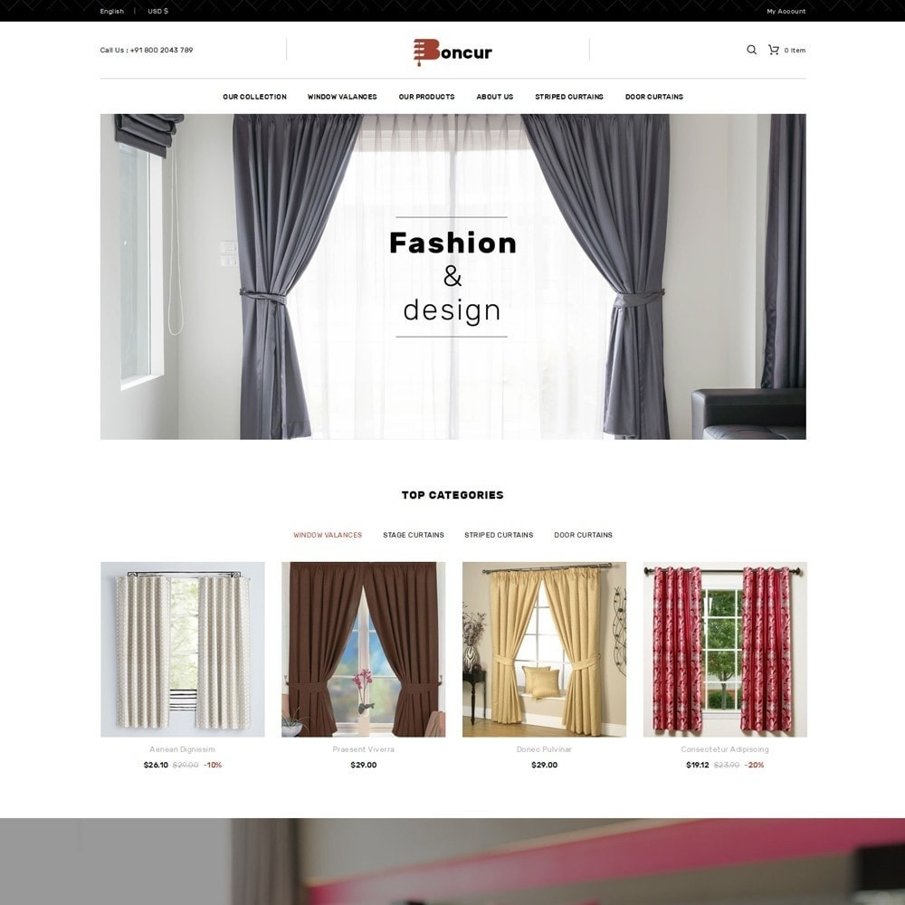 theme - Casa & Jardins - Boncur - The Curtain Shop - 2