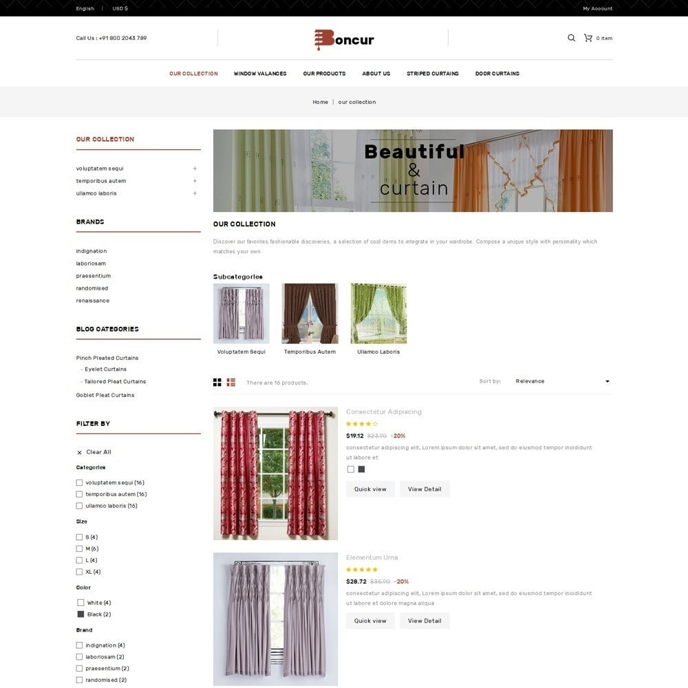theme - Casa & Jardins - Boncur - The Curtain Shop - 5